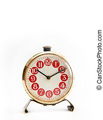 Clock - Antique clock on a white background