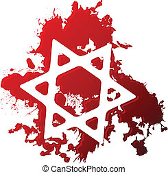 Blood star of david - Star of David reversed out of blood