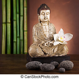 Zen of a buddha - Buddha statue in a meditation