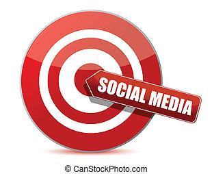 target bulls eye social media