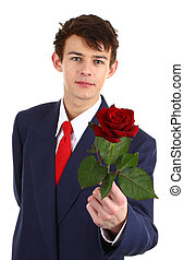 Guy with a rose