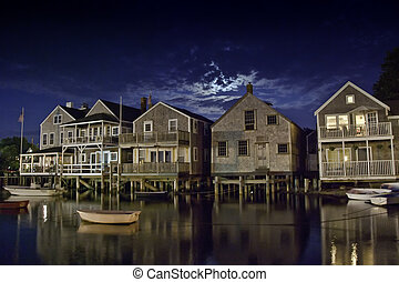 Coast of Nantucket in Massachusetts, U.S.A.
