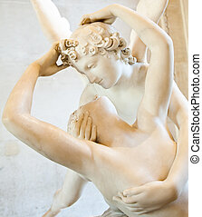 Psyche revived by Cupid kiss - Antonio Canova's statue...