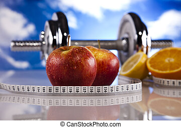 Fresh Fruits, and Diet control - Sport and fitness...
