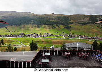 A popular mountain resort in the Alps