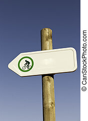 bicycle green sign