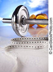 Measuring of dumbbell - Body building, supplements