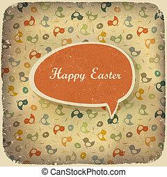 Easter vintage background. Vector illustration.