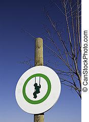 Signal round playground for children in green