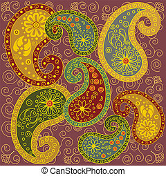 Colored Paisley