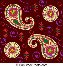 Rich Colored Background Paisley