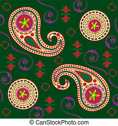 Rich Colored Paisley