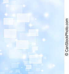 Soft blue background with square shapes