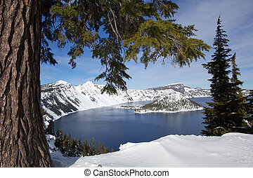 Crater Lake National Park Snowscape - Crater Lake National...