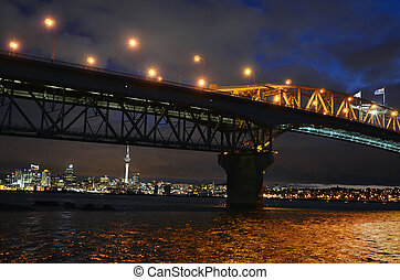 Auckland City - Auckland harbour bridge with Auckland city...