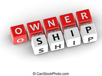 Ownership - Rendered artwork with white background