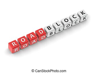 Roadblock - Rendered artwork with white background