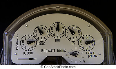 Electricity Meter - An older style electricity meter from a...