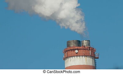 Smoke Stack of Power Plant - Smoke Stack at an Electricity...