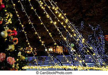 Christmas illuminations. Illumination of the city of the...