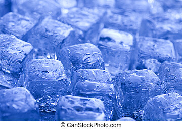Blue and shiny ice cubes - Ice can refer any of the 14 known...