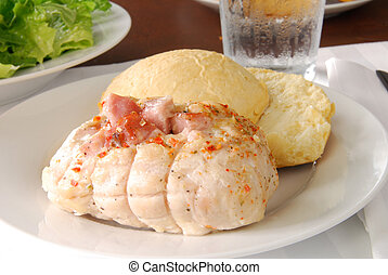 Chicken cordon bleu - Chicken stuffed with ham and cheese...