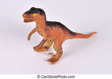 Allosaurus - Toy- Allosaurus on white background