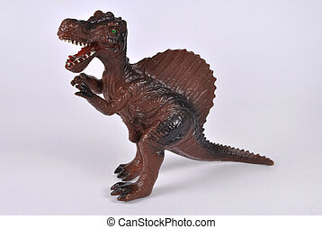 Spinosaurus - Toy- Spinosaurus on white background