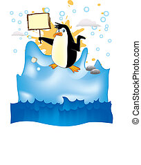 penguin in iceberg