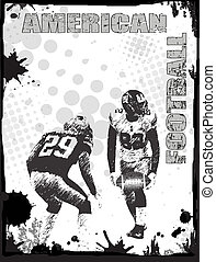American football poster - American football grunge poster...