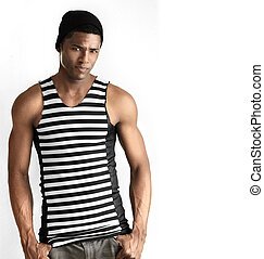 Male fashion model - Fashion portrait of fit young male...