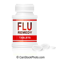 Flu treatment concept.