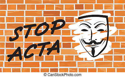 stop acta - writing on the wall - a protest against the...