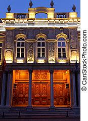 viejo, poste, oficina, edificio, Eminonu, Estambul