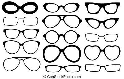 eyeglasses - different eyeglasses set