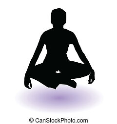 girl silhouette sitting