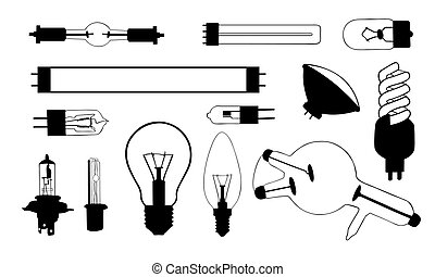 light bulb - set of different light bulbs
