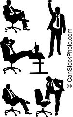 businessmen - set of businessmen isolated on white