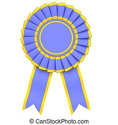 Blue Ribbon Award from the yellow border on white...
