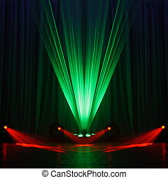Illumination of a stage during a concert