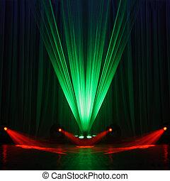 Illumination of a stage