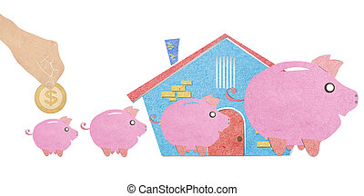 Home finances with recycled paper stick - Home finances with...