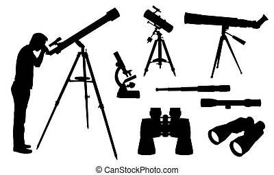 telescope - optical equipment set