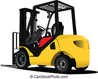 Lift truck. Forklift. Vector illus