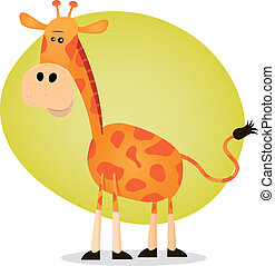 Cute Cartoon Giraffe - Illustration of a tiny giraffe from...