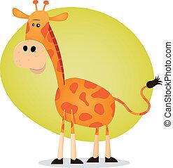 Cute Cartoon Giraffe - Illustration of a tiny giraffe from...