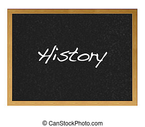 History - Blackboard with History