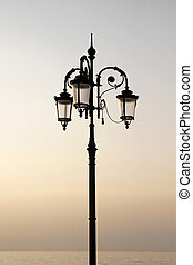 Lantern in Lazise, Lake Garda - Lantern at the promenade of...