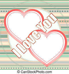 Valentine's day vector background with two hearts
