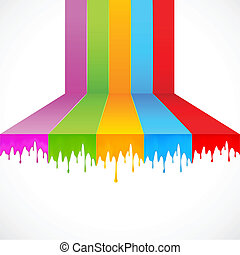 Multicolor Paint - illustration of multicolor paint dripping...